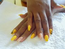 Polished Nail Extention On Display royalty free stock images