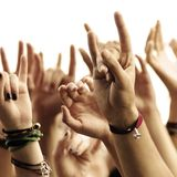 Hands of crowd Royalty Free Stock Photography