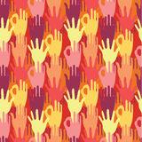 Hands in the crowd seamless pattern background Royalty Free Stock Photo