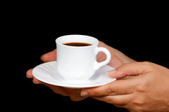 Hands with a cup of coffee Royalty Free Stock Images