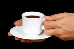 Hands with a cup of coffee Royalty Free Stock Photo