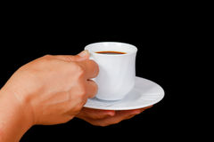 Hands with a cup of coffee Stock Image