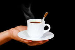 Hands with a cup of coffee Royalty Free Stock Image