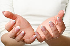 Hands cupped Stock Images