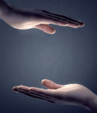 Hands cupped Royalty Free Stock Photography