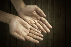 Hands cupped together Stock Photos