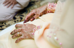 Hands Decorated with Henna. Bride's hands decorated with henna Stock Image