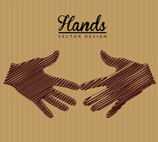 Hands design Royalty Free Stock Images