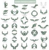 Hands design element Stock Photos
