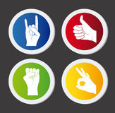 Hands design Royalty Free Stock Photo