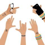 Hands design, vector illustration. Royalty Free Stock Photos