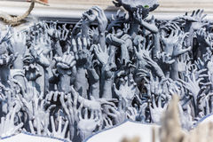 Hands of Despair, Thailand. Hand statuesin the White temple of Wat Rong Khun, Thailand Royalty Free Stock Image