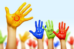 Hands of different colors Royalty Free Stock Photography