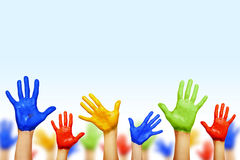 Hands of different colors Royalty Free Stock Photos