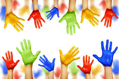 Hands of different colors Royalty Free Stock Images