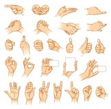 Hands in different interpretations Royalty Free Stock Image