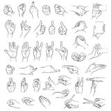 Hands in different interpretations Royalty Free Stock Photos