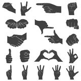 Hands in different interpretations. Vector illustration. Royalty Free Stock Photography