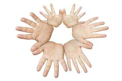 Hands of different persons Stock Image