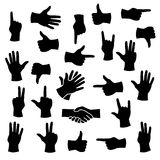 Hands in different positions Royalty Free Stock Images