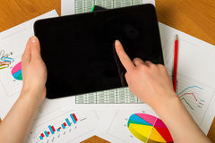 Hands with digital tablet pc Royalty Free Stock Image