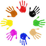 Hands Diversity Circle stock illustration