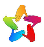 Hands diversity people logo Royalty Free Stock Image