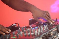 Hands of a DJ Stock Photography