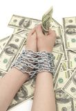 Hands with dollar Royalty Free Stock Images