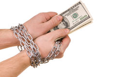 Hands with dollars Royalty Free Stock Image