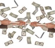 Hands and dollars Royalty Free Stock Photography