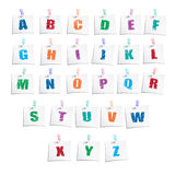 Hands Draw Alphabet Royalty Free Stock Photography