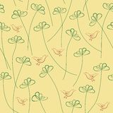 Hands Draw Floral Seamless Pattern Royalty Free Stock Photos
