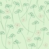 Hands Draw Floral Seamless Pattern Royalty Free Stock Image