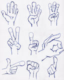 Hands Drawn in Ink Royalty Free Stock Image