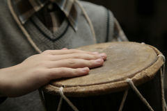 Hands on drum Royalty Free Stock Images