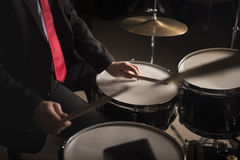 Hands of Drummer Royalty Free Stock Photos