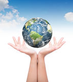 Hands with earth Royalty Free Stock Photo