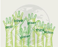Hands eco Stock Image