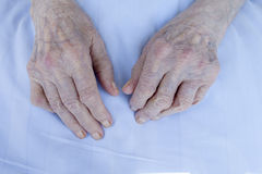 Hands of elderly lady Royalty Free Stock Photography