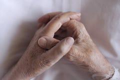 Hands. Of an elderly man Stock Photo