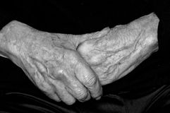 Hands of an elderly person Royalty Free Stock Photography