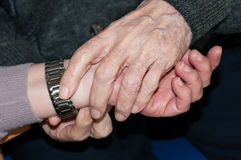 Hands of elderly person Royalty Free Stock Image