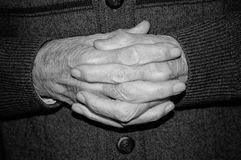 Hands of elderly person Royalty Free Stock Images