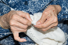 Hands of elderly person Stock Photography
