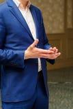 Hands of elegance man in suit Stock Photo