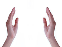 Hands with empty space. Royalty Free Stock Photography