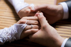 Hands enamoured. Two enamoured-man and the woman keep for hands royalty free stock image