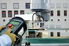Smart factory on industry 4.0 technology stock images