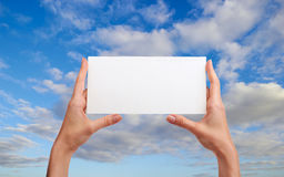 Hands with envelope Royalty Free Stock Photos